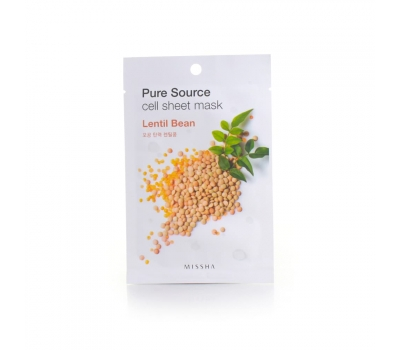 Missha Маска для лица Pure Cell Sheet Mask Lentil Bean, 21 г