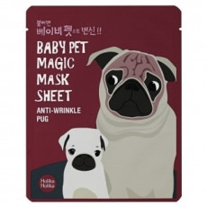 Holika Holika Тканевая маска от морщин Baby Pet Magic Mask Sheet Anti-Wrinkle Pug, 22 мл