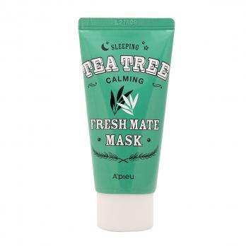Ночная маска для лица успокаивающая с маслом чайного дерева для жирной и проблемной кожи, 50 мл